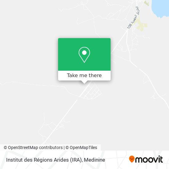 Institut des Régions Arides (IRA) plan