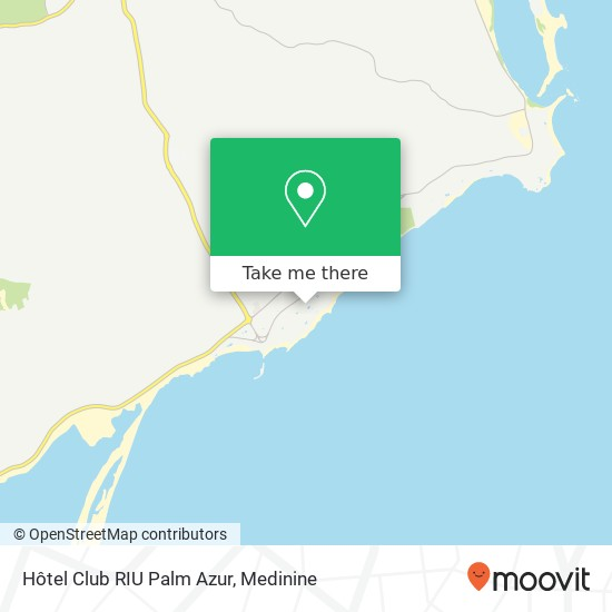 Hôtel Club RIU Palm Azur plan