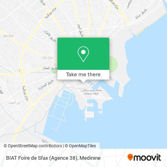 BIAT Foire de Sfax (Agence 38) plan