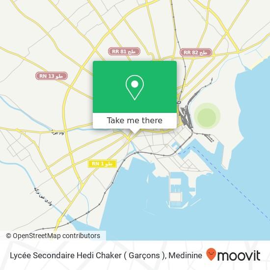 Lycée Secondaire Hedi Chaker ( Garçons ) plan