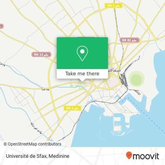 Université de Sfax plan