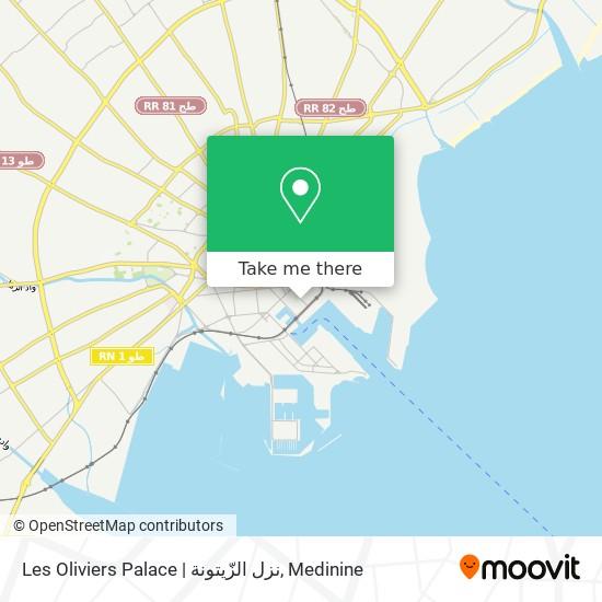 Les Oliviers Palace   نزل الزّيتونة plan