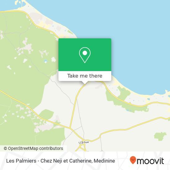 Les Palmiers - Chez Neji et Catherine plan