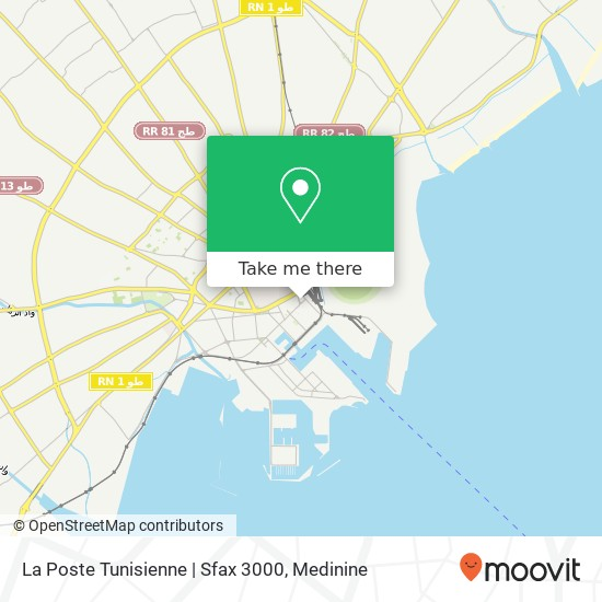 La Poste Tunisienne | Sfax 3000 plan