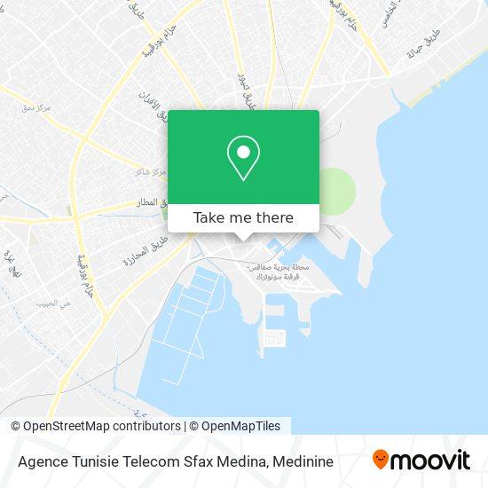 Agence Tunisie Telecom Sfax Medina plan