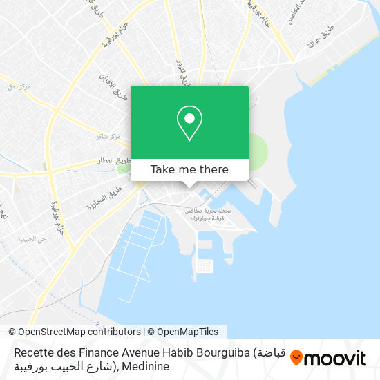 Recette des Finance Avenue  Habib Bourguiba (قباضة شارع الحبيب بورقيبة) plan