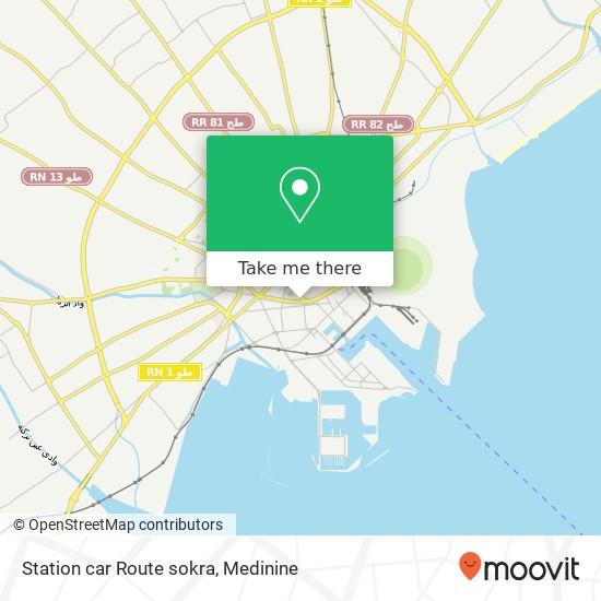 Station car Route sokra plan