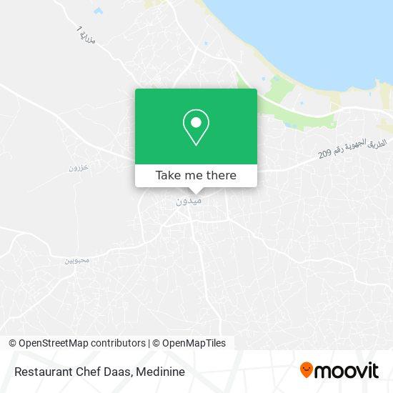 Restaurant Chef Daas plan