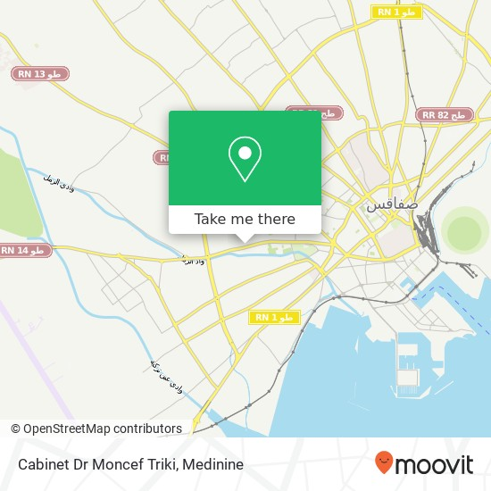 Cabinet Dr Moncef Triki plan