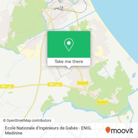 Ecole Nationale d'Ingénieurs de Gabès - ENIG plan