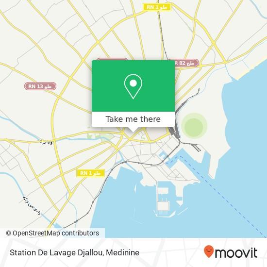 Station De Lavage Djallou plan