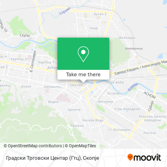 Градски Трговски Центар (Гтц) map
