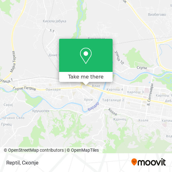 Reptil map