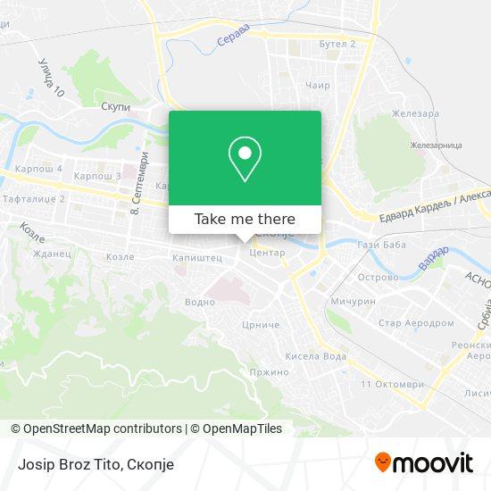 Josip Broz Tito map