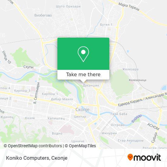 Koniko Computers map