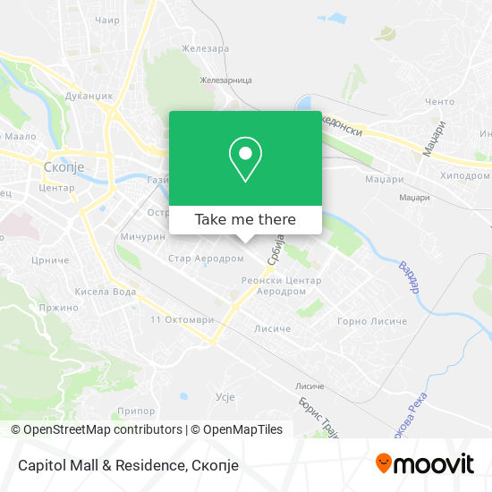 Capitol Mall & Residence map