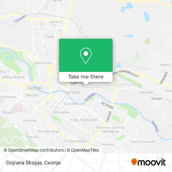 Dojrana Skopje map