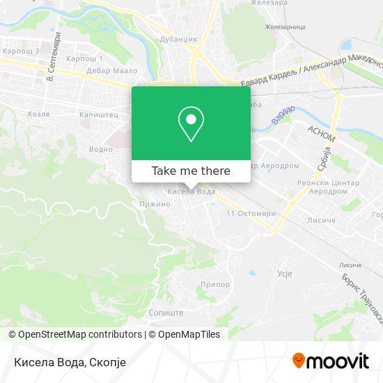 Кисела Вода map