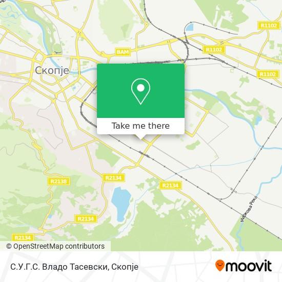С.У.Г.С. Владо Тасевски map