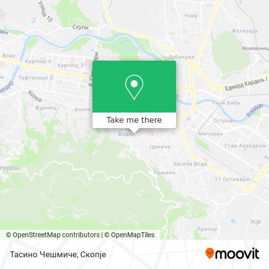 Тасино Чешмиче map