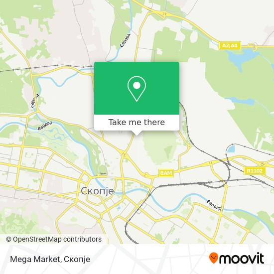 Mega Market map