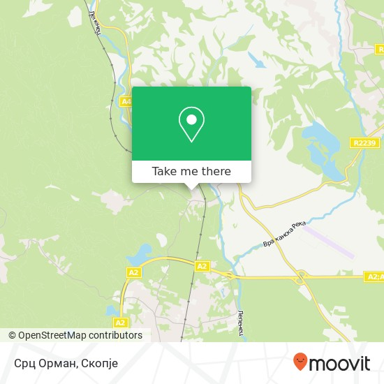 Срц Орман map