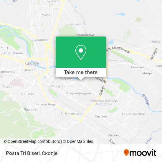 Posta Tri Biseri map