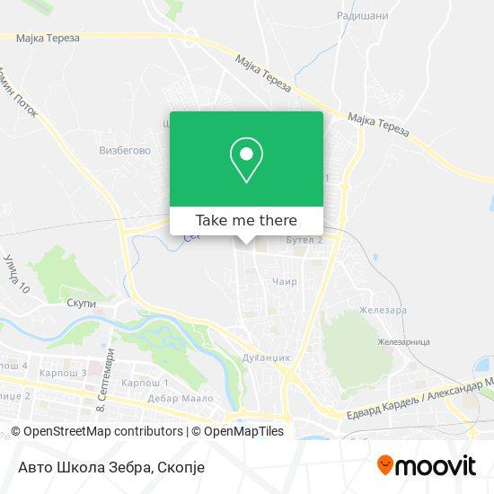 Auto Shkolla Zebra map