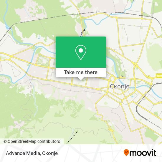 Advance Media map