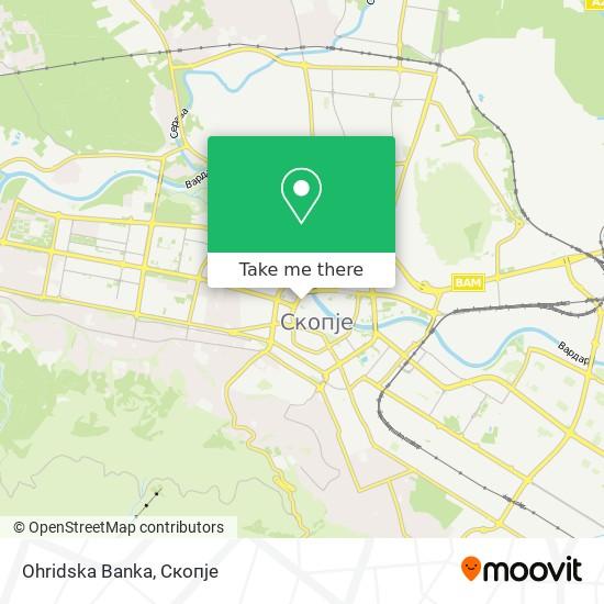 Ohridska Banka map