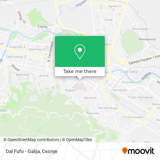 Dal Fufo - Galija map