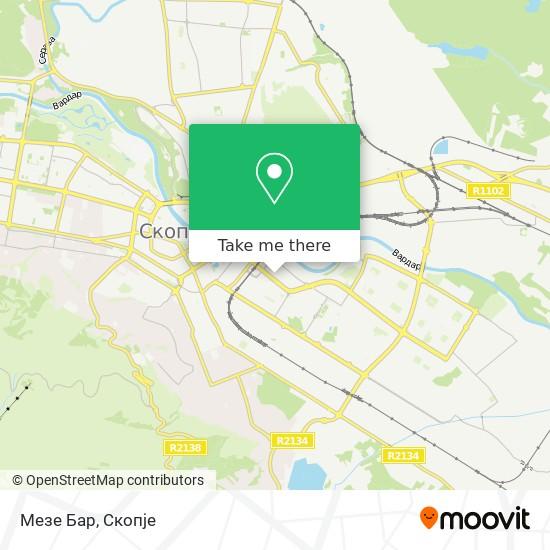 Мезе Бар map