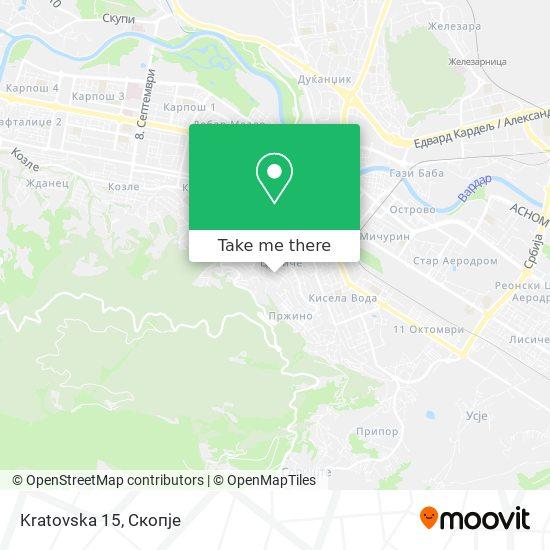 Kratovska 15 map