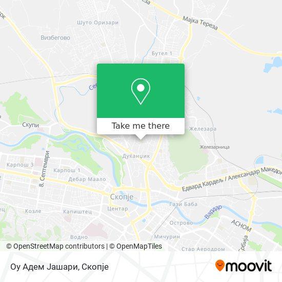 Оу Адем Јашари map