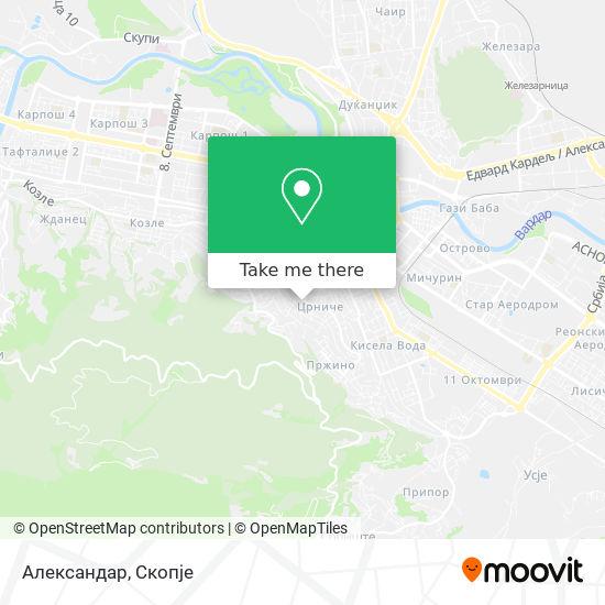 Александар map