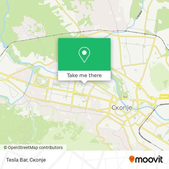 Tesla Bar map