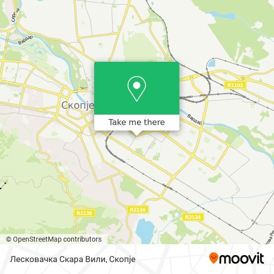 Лесковачка Скара Вили map