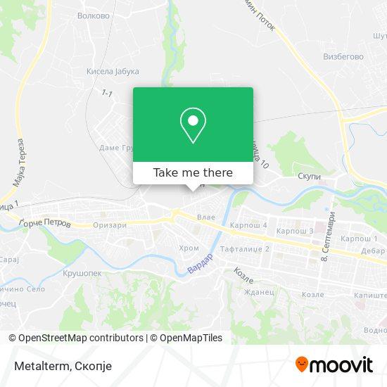 Metalterm map