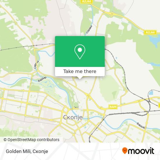 Golden Mili map