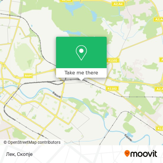 Лек map