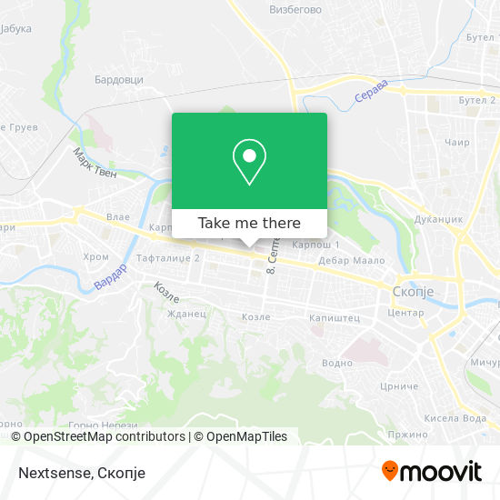 Nextsense map