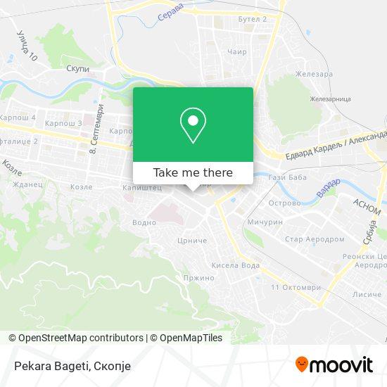 Pekara Bageti map