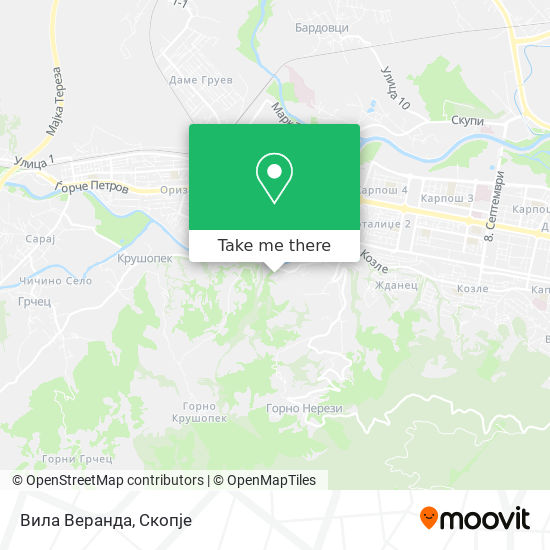 Вила Веранда map