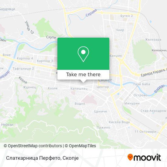 Слаткарница Перфето map