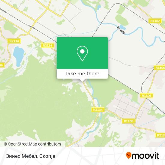 Зинес Мебел map
