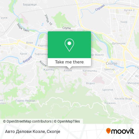 Авто Делови Козле map