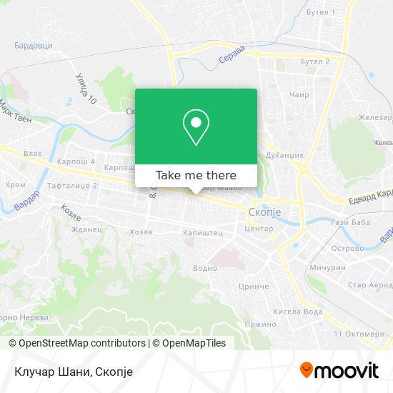 Клучар Шани map