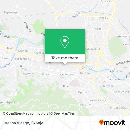 Vesna Visage map