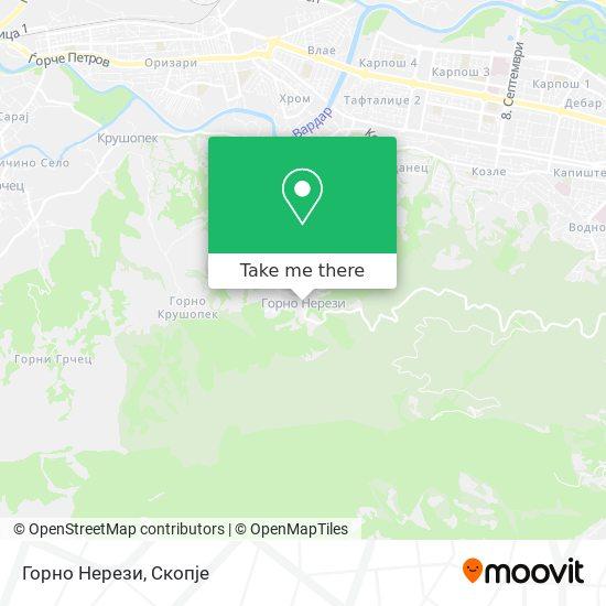Горно Нерези map