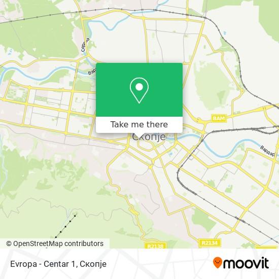 Evropa - Centar 1 map